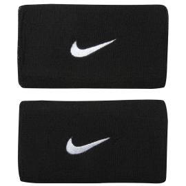 Nike Swoosh Double Wide Wristband - Black/White logo