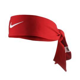 Nike Dri-Fit Headband - Red / White logo