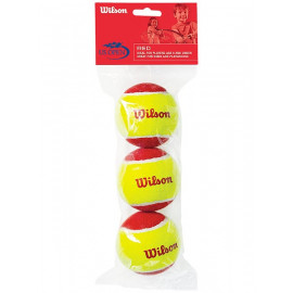Wilson US Open Red Felt Tennis Balls (3-Pack) - For Children 6-8 Years Old