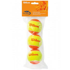 Wilson Starter 60' US Open Orange Tennis Balls (3-Pack) - For Beginners and Juniors 9 - 11 Years Old