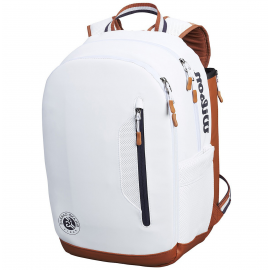 Wilson Roland Garros Backpack Bag - White/Navy/Clay