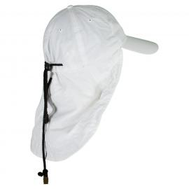 Adams Lightweight UV Nylon Cap with Cape White