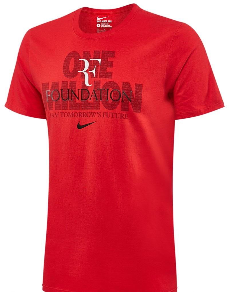 Roger Federer RF Foundation One Million Nike T-Shirt