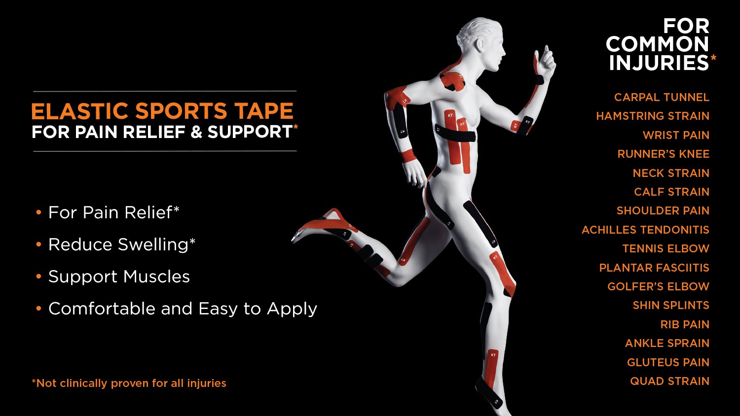 KT Pro Tape 20 For Sports Injuries