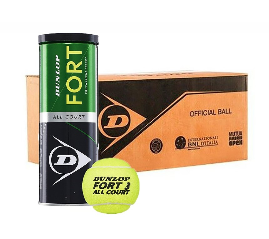 Dunlop FORT ALL COURT Tennis Balls - 24 Can Case