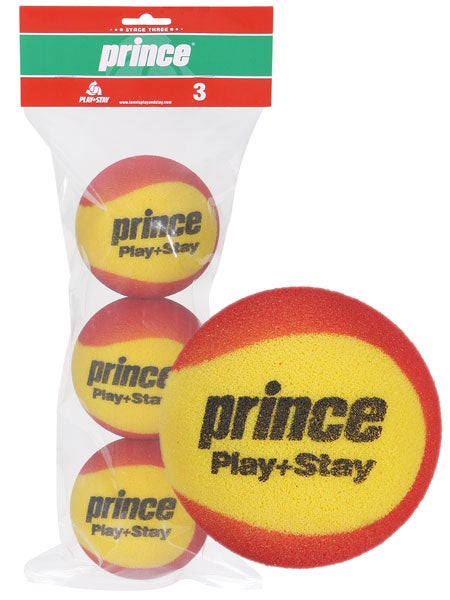 Prince Stage 3 Red Foam Ball 3 Pack - For Children 3-5 Years Old