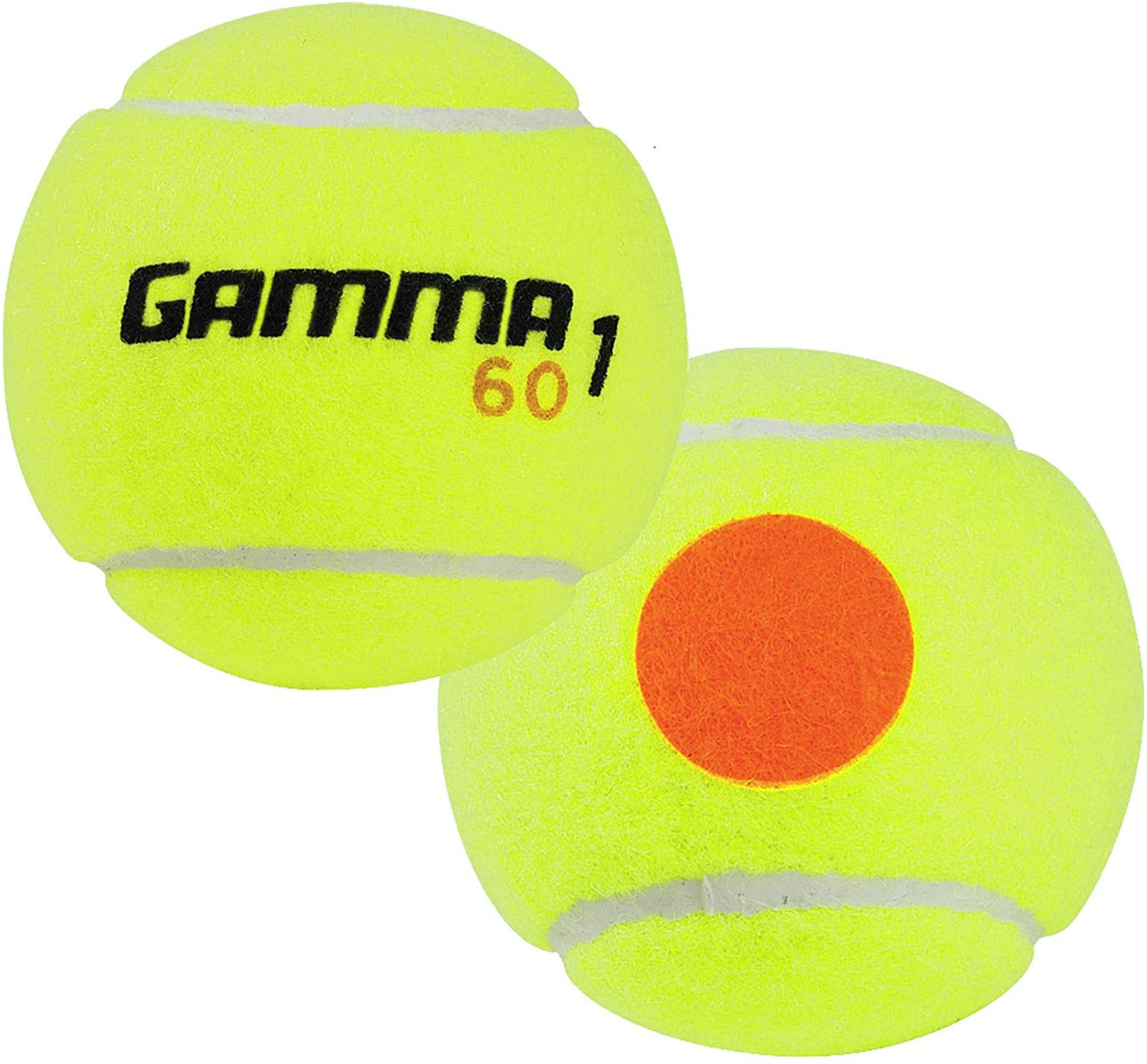 Gamma 60' Orange Dot Balls (Can of 3 Balls) - For Juniors 9 - 11 Years Old