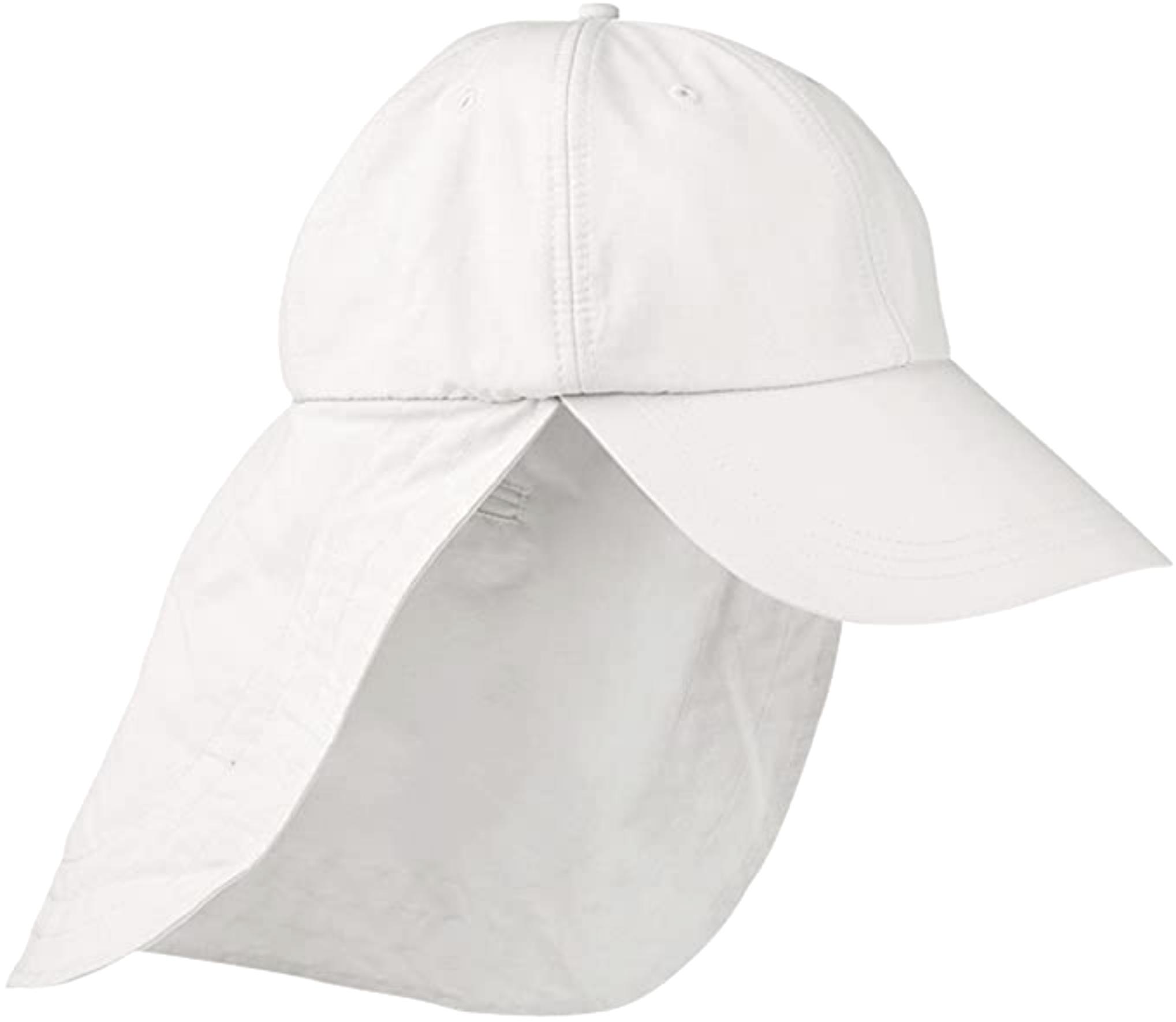Adams Lightweight UV Nylon Cap with Cape White