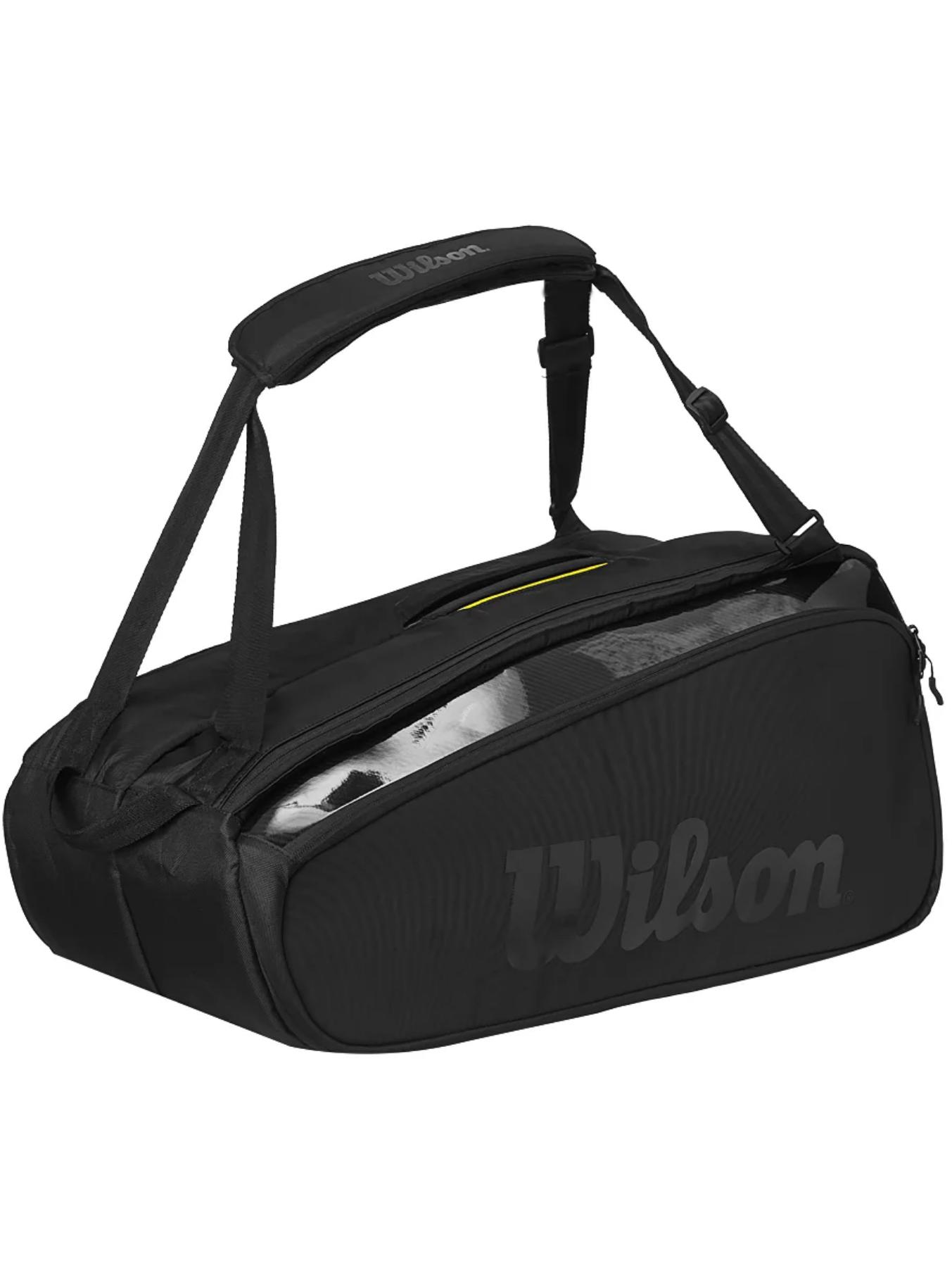 Wilson Super Tour 9 PK Pro Staff Black Bag